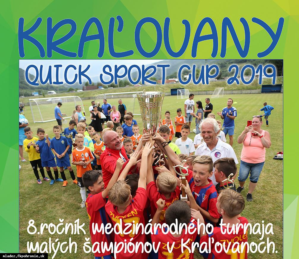 U12: turnaj Quick Sport Cup Kraľovany 22.6.2019